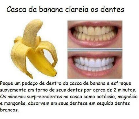 Casca de banana clareia os dentes?