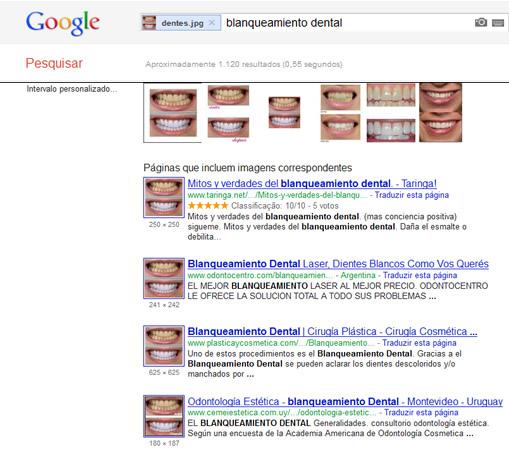 Busca no Google Imagens sobre os dentes brancos!