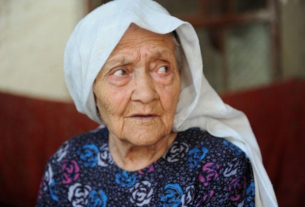 Idade de Alimihan Seyiti ainda não foi confirmada pelas autoridades chinesas e nem pelo Guiness (Foto: AFP)