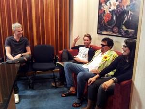 Vocalista e guitarrista da banda participaram da gravação para o reality show (Foto: Arquivo Pessoal)