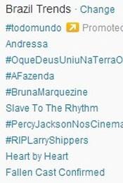 Trending Topics no Brasil às 17h05 (Foto: Reprodução/Twitter.com)