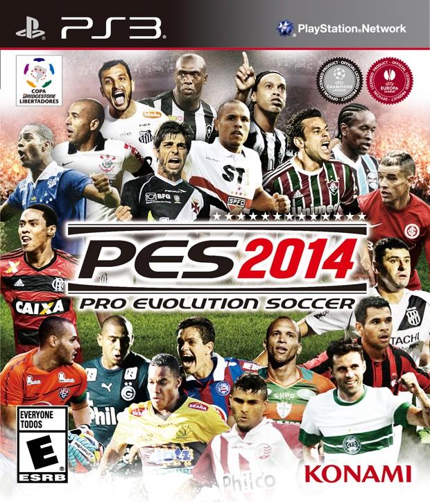 Konami divulgou capa brasileira de 'PES 2014' nesta sexta-feira (23) (Foto: Divulgação/Konami)