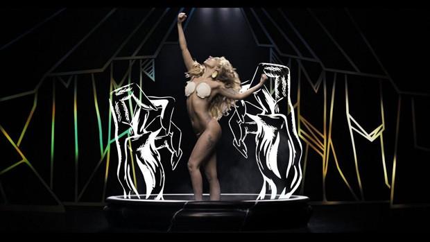 Lady Gaga divulga foto seminua para promover lançamento de clipe (Foto: Divulgação)