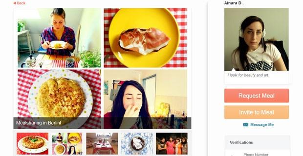Perfil da espanhola Ainara DelValle, uma das cofundadoras do 'Meal Sharing' (Foto: Reprodução/Meal Sharing)