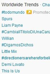 Trending Topics no Mundo às 17h17 (Foto: Reprodução/Twitter.com)