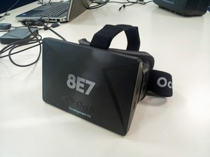 Protótipo do Oculus Rift testado pelo G1 (Foto: Bruno Araujo/G1)