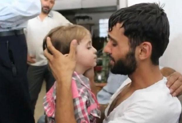 Vídeo mostra momento emocionante em que sírio reencontrou filho que achava estar morto (Foto: Reprodução/YouTube/Hadi Hdhod)