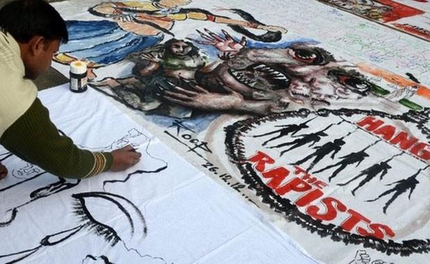 A Índia tem visto grandes protestos contra o estupro nos últimos meses (Foto: AFP)