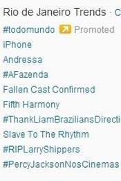 Trending Topics no Rio às 17h08 (Foto: Reprodução/Twitter.com)
