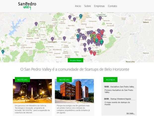 Site da comunidade foi criado durante evento (Foto: Divulgação / San Pedro Valley)