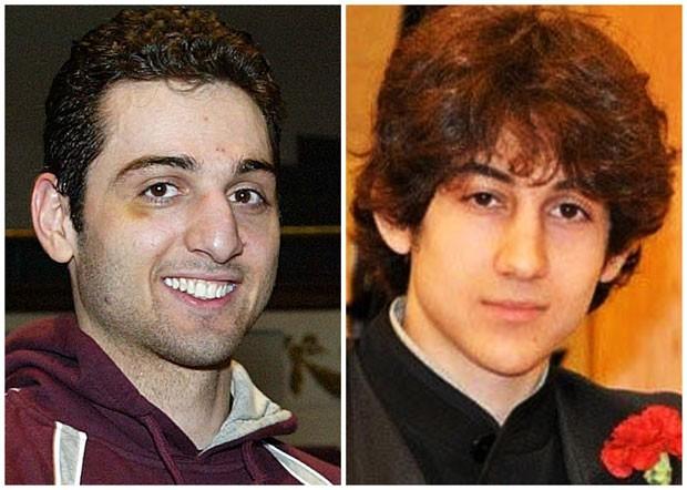 Irmãos Tamerlan, de 26 anos, (esquerda) e Dzhokhar Tsarnaev, de 19 anos, suspeitos pelos atentados em Boston (Foto: The Lowell Sun/Robin Young/AP)