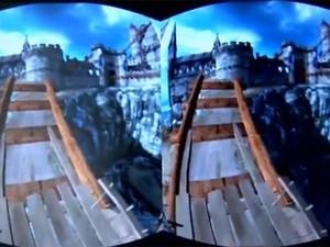 Exemplo de demonstração do Oculus Rift (Foto: Reprodução/G1)