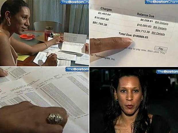 Mulher recebeu conta de mais de US$ 100 mil (Foto: Reprodução)