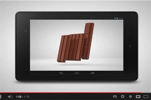 Vídeo nop YouTube mostra chocolate KitKat como se fosse um novo iPad. (Foto: Reprodução/KitKat)
