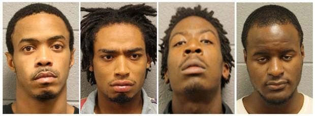 Quatro homens acusados por tiroteio em parque de Chicago (Foto: Chicago Police Department/via Reuters)