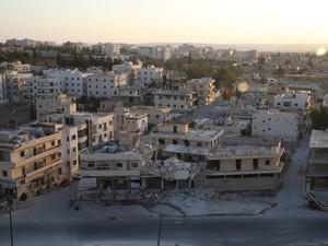 Distrito de Huraitan em Aleppo (Foto: Gabriel Chaim/G1)