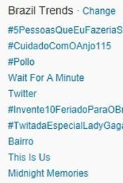 Trending Topics no Brasil às 17h06 (Foto: Reprodução/Twitter.com)