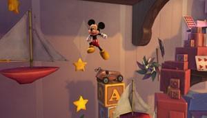 Mickey na fase do quarto de brinquedos (Foto: Divulgação/Sega)