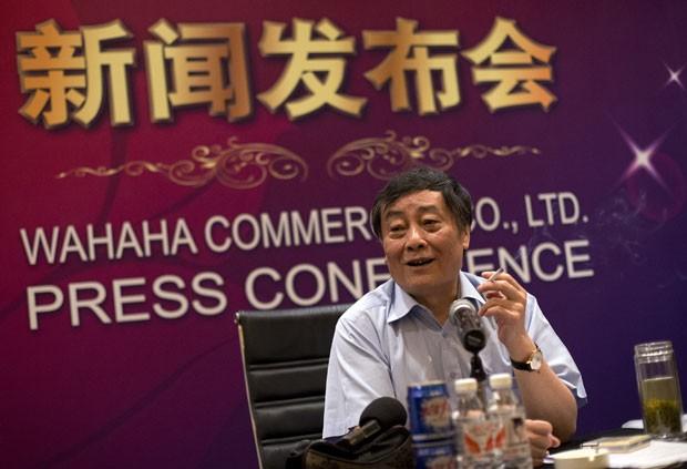 Desempregado atacou segundo homem mais rico da China, Zong Qinghou (foto), após ter pedido de emprego negado (Foto: Andy Wong/AP)