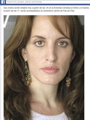 Comunicado do Teatro Colón, da Argentina, sobre a morte da soprano Florencia Flores (Foto: Reprodução / Facebook Teatro Colón)