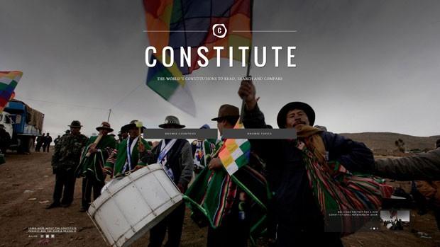 Apoiado pelo Google, site 'Constitute' permite a comparação entre as Constituições de 160 países (Foto: Reprodução)