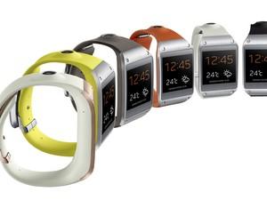 Relógio INteligente Galaxy Gear vem em diversas cores (Foto: Divulgação/Samsung)