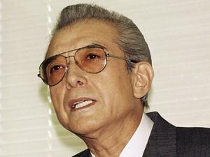 Hiroshi Yamauchi, ex-presidente da Nintendo, em foto de 1992. Ele morreu na quarta-feira (18) aos 85 anos (Foto: Katsumi Kasahara/Arquivo/AP)