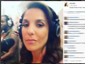 Ivete Sangalo divulga vídeo de ensaio para o Rock in Rio 2013 (Foto: Reprodução/Instagram)