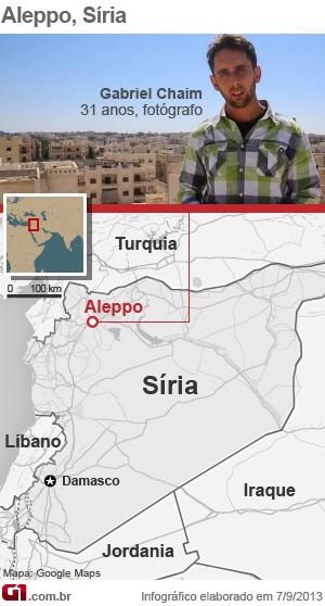 Mapa - Síria (Foto: Arte/G1)