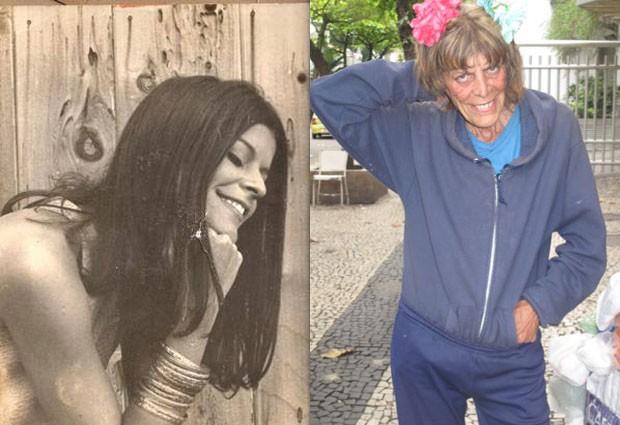 AnaMaria na década de 70 e nos dias de hoje, aos 66 anos (Foto: Lívia Torres/G1)