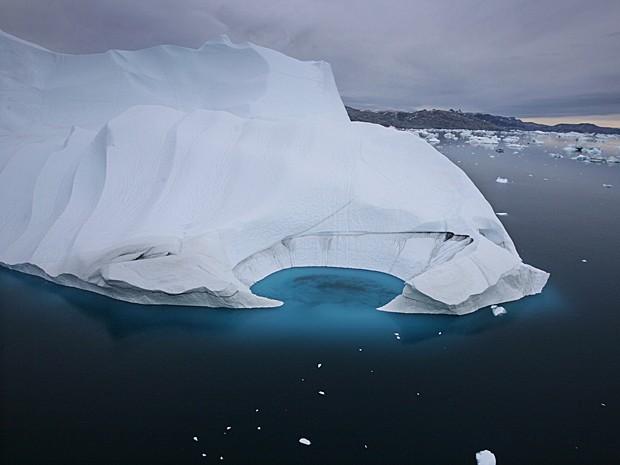 Ilha Ammasalik, na Groenlândia (Foto: John McConnico/AP)