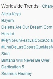 Trending Topics no Mundo às 17h07 (Foto: Reprodução/Twitter.com)