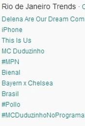 Trending Topics no Rio às 17h24 (Foto: Reprodução/Twitter.com)