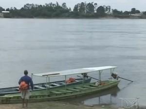 Rio Tocantins está 2,5 metros acima do esperado para a época do ano (Foto: Reprodução/TV Mirante)