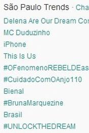 Trending Topics em São Paulo às 17h25 (Foto: Reprodução/Twitter.com)