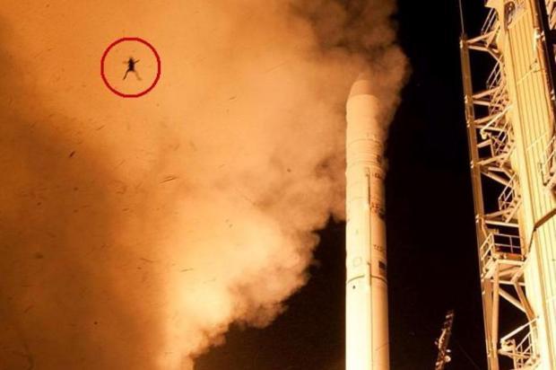 Sapo teria aparecido em foto durante o lançamento de um foguete da NASA! Verdadeiro ou falso? (foto: Reprodução/Facebook)