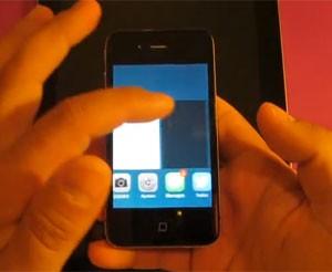 Usuário mostra a falha de segurança do iOS 7 (Foto: Reprodução/YouTube)