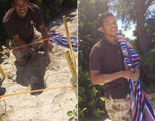 Jovem foi flagrado mexendo em um ninho de tartaruga no dia 13 de agosto em Casey Key (Foto: Divulgação/Florida Fish and Wildlife Conservation Commission)