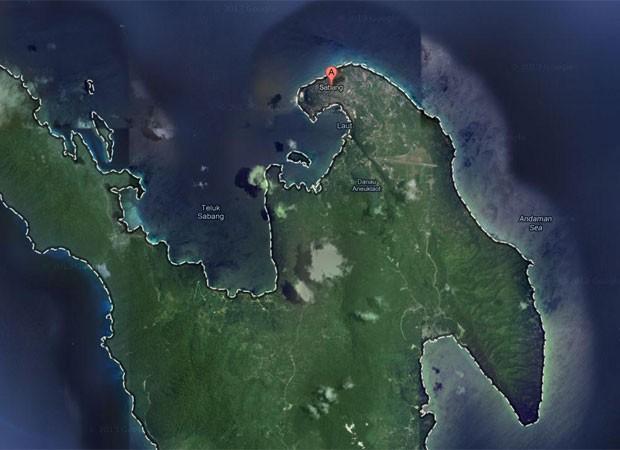 Questionário foi distribuído a meninos de escola em Sabang (Foto: Reprodução/Google Maps)