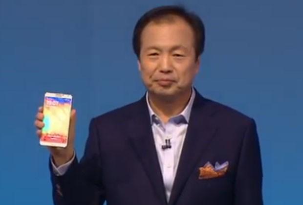 JK Shin apresenta o Galaxy Note 3, da Samsung (Foto: Divulgação/Samsung)