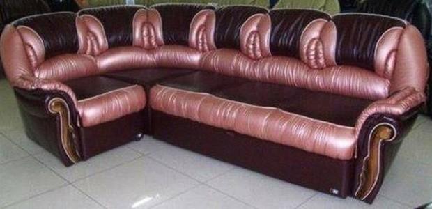 Vendedor disse que precisa vender o sofá com detalhes que lembram vaginas após se casar (Foto: Reprodução/Craigslist)