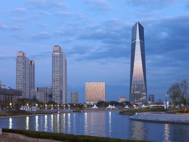 A cidade experimental de Songdo, na Coreia do Sul (Foto: Divulgação/BBC)