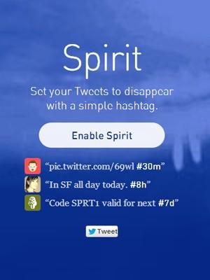 Aplicação para web chamada Spirit permite que tuiteiros criem mensagens com prazo de validade. (Foto: Reprodução)