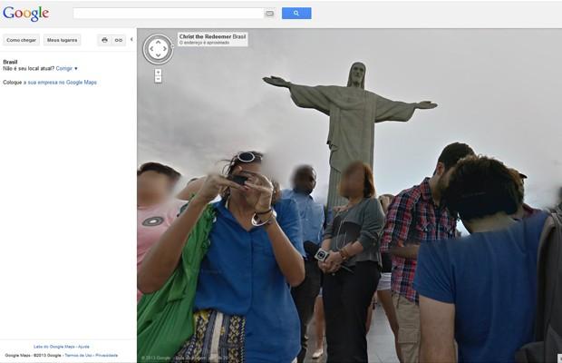 Google incluiu imagens do Cristo Redentor no serviço Street View. (Foto: Reprodução)