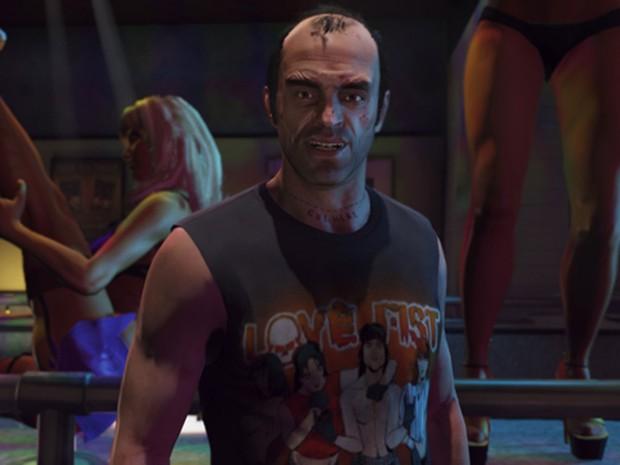 Trevor vai em balada em 'GTA V' (Foto: Divulgação/Rockstar)