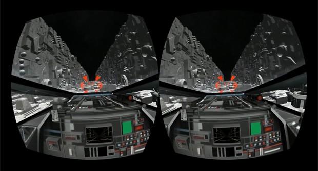 Corrida pela trincheira da Estrela da Morte, cena clássica da série 'Star Wars', foi recriada para o Oculus Rift (Foto: Reprodução/YouTube/Boone Calhoun)