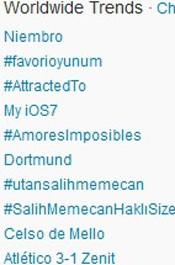 Trending Topics no Mundo às 17h14. (Foto: Reprodução/Twitter.com)