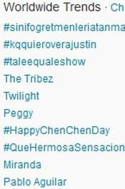 Trending Topics no Mundo às 17h18. (Foto: Reprodução/Twitter.com)