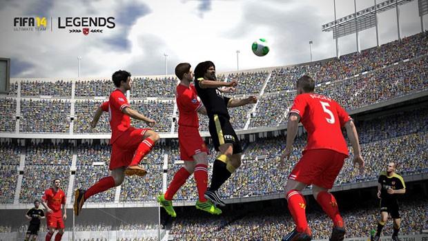 Imagem do Fifa 14 mostra o jogador Carlos Valderrama em ação, (Foto: Reprodução)