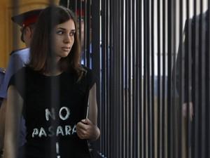 Nadezhda Tolokonnikova, integrante da banda Pussy Riot (Foto: Reuters/ Sergei Karpukhin)